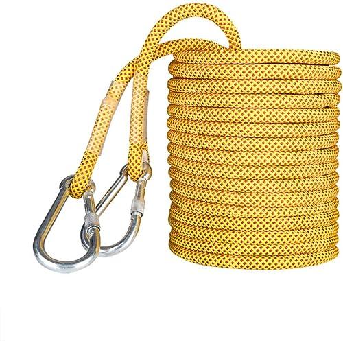 LBYMYB Corde de Nettoyage de la paroi extérieure résistante à l'usure de la paroi extérieure de 16 mm Corde d'escalade (Couleur   jaune, Taille   15M(49.2FT))