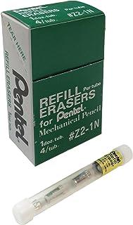 Pentel Refill Eraser for Mechanical Pencils, White, 12 Tubes, 4 Erasers Per Tube (Z2-1N)