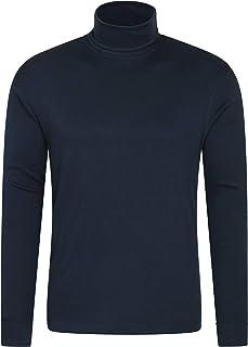 Mountain Warehouse Camiseta térmica Interior Meribel para Hombre - 100% algodón Peinado, Cuello Vuelto, Transpirable, Seca...