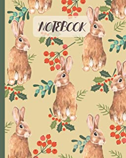 Notebook: Cute Rabbits Drawing Cover - Lined Notebook, Diary, Track, Log & Journal - Gift for Boys Girls Teens Men Women Who Love Rabbits & Bunny (8
