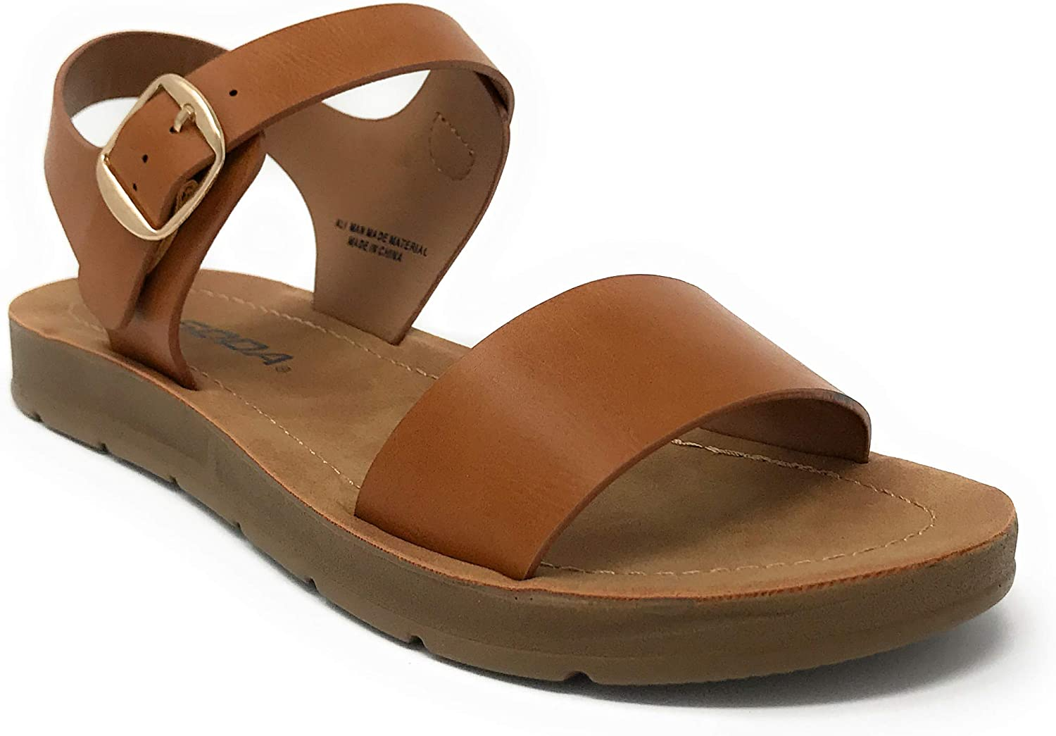 Free 5 popular shipping on posting reviews Soda Women's Strappy Flat Sandals