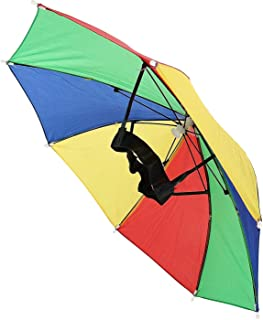 Rhode Island Novelty 20 Inch Rainbow Umbrella Hat One Dozen Per Order