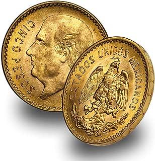 1905 MX 1955 (Random Year) Mexico Gold Cinco 5 Pesos Brilliant Uncirculated .1205 troy oz AGW