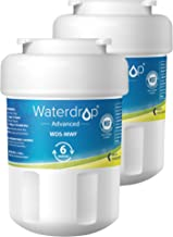 Waterdrop MWF NSF 53&42 Certified Refrigerator Water Filter, Compatible with GE SmartWater MWF, MWFINT, MWFP, MWFA, GWF, HDX FMG-1, GSE25GSHECSS, WFC1201, RWF1060, 197D6321P006, Kenmore 9991, 2 Pack