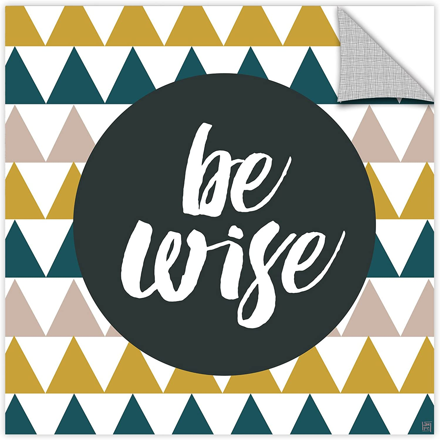 ArtWall Aubree Perrenoud's Be Wise, Removable Wall Art Mural 14x14