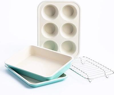 GreenLife Healthy Ceramic Nonstick Bakeware Set - Bakeware For Convection Oven