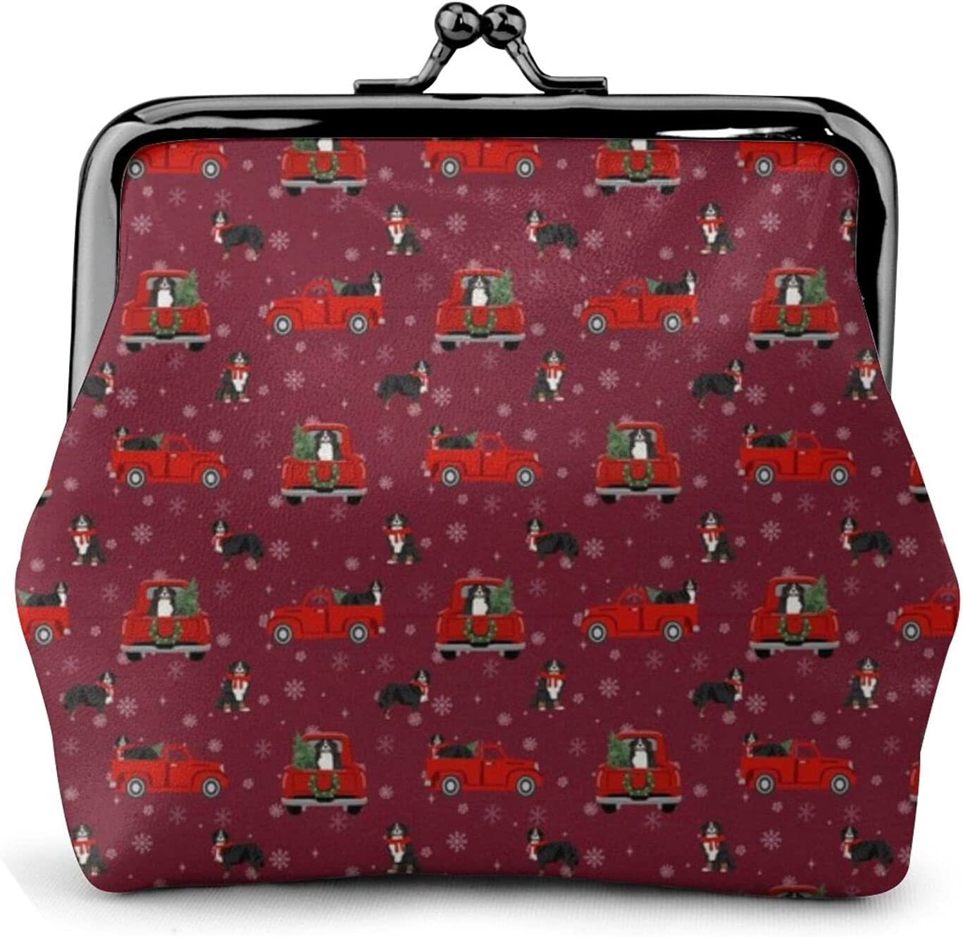 Bernese Mountain Dog 432 Coin Purse Retro Money Pouch with Kiss-lock Buckle Small Wallet for Women and Girls