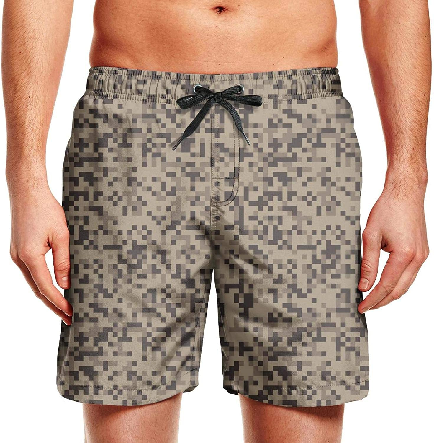 Camouflage Pixelated Brown Mens Classic Camouflage Short Outdoor