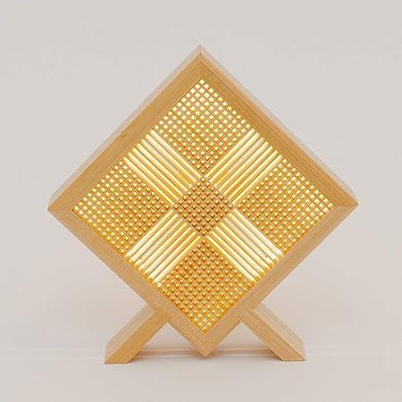 木のあかり USB LEDライト 彼方(かなた) デスクライト 組子照明 青森ヒバ製 国産手作り リモコン付き