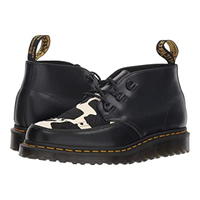 Dr. Martens Ramsey Chukka (Black Polished Smooth/Friesian Hair On) Boots