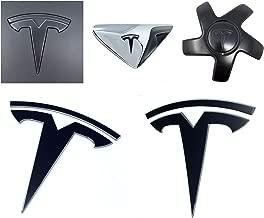 Custom Cut Graphics Tesla Model 3 Logo Decal Wrap (Satin Black)
