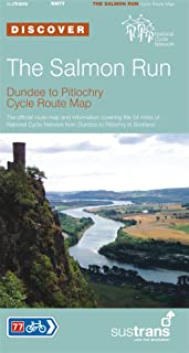 The Salmon Run, Dundee to Pitlochry Sustrans Cycle Route Map (Sustrans National Cycle Network)