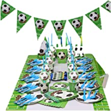 Soccer Party Supplies Sports Themed Party Decoration for Boys 10 Guess 16 Pieces for Birthday Party Serves