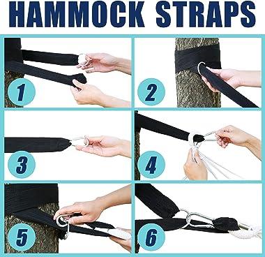 Yoyo Mori 2 Person Hammock with 600lb Laod Capacity,Portable Cotton Canvas Hammocks with Two Anti Roll Balance Beam,Sturdy Me