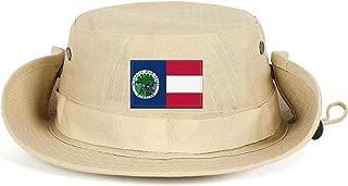 AIYA65TYO Flag of Florida Flag of The USA Unisex Mens Sunshade Fishing Cap Camping Breathable Cap