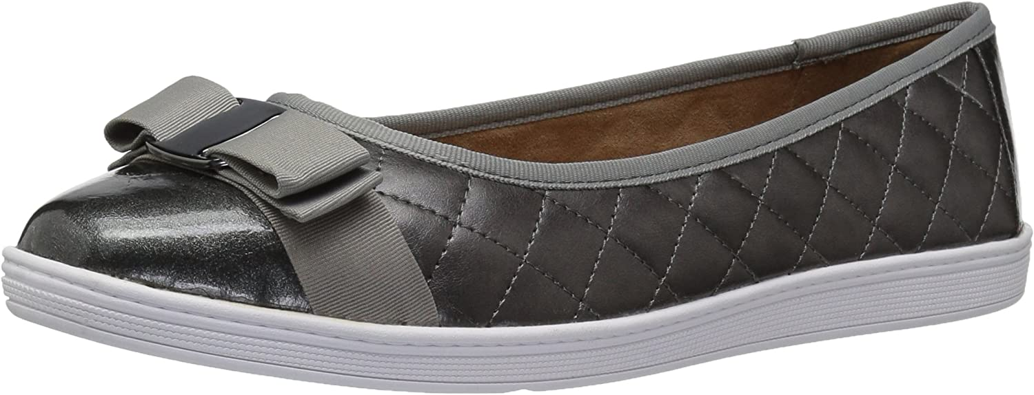 Soft Style by Hush Puppies Woherren Faeth Flat, Dark Pewter, 8.5 3E US