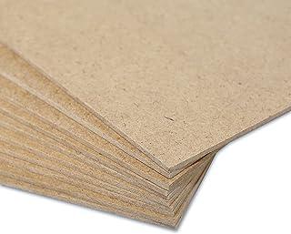 Creative Deco 25 x A4 MDF Panneau Feuille Planche Bois | 300 x 210 x 3 mm | Idéal pour Découpe au Laser, CNC Routeur, Mode...