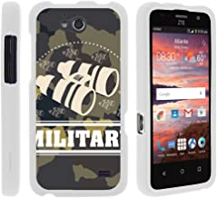 TurtleArmor | Compatible with ZTE Maven Case | ZTE Fanfare Case | ZTE Atrium Case [Slim Duo] Ultra Slim Hard Protector 2 Piece Fit Snap On Cover on White War and Military - Military Binoculars