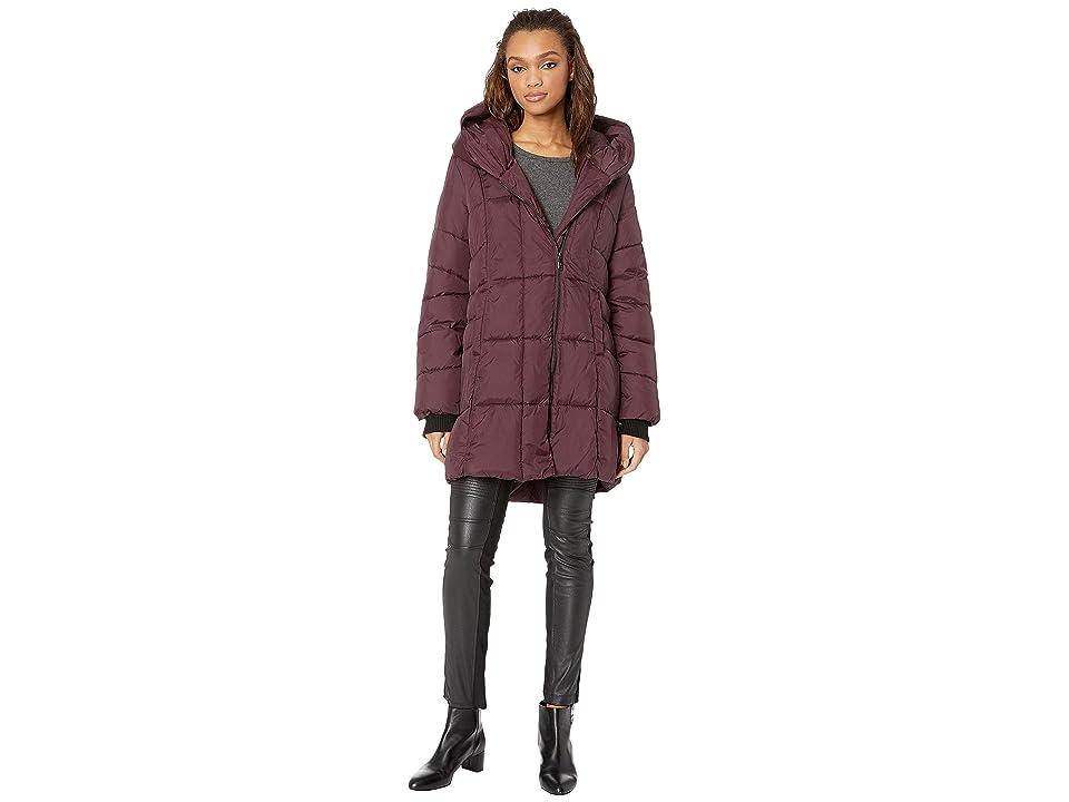 Sam Edelman Pillow Collar Puffer Jacket (Burgundy) Women