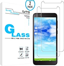 KATIN TCL LX Screen Protector - [2-Pack] Tempered Glass for TCL LX Screen Protector Easy to Install, Bubble Free with Lifetime Replacement Warranty