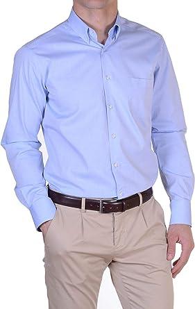 GBC Italian Style - Camisa Casual - para Hombre Celeste 48 ES ...
