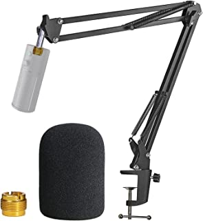 Razer Seiren X Boom Arm with Pop Filter - Mic Stand with Foam Cover Windscreen for Razer Seiren X Streaming Microphone by ...