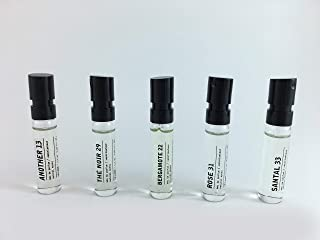 Le Labo Discovery Set - An0ther 13, Bergamote 22, Rose 31, Santal 33 and The Noir 29 - .05 ounce Unisex Spray Samples