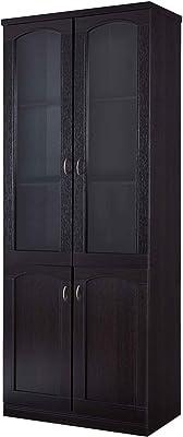 Benjara Wooden Book Cabinet with Five Shelves, Brown