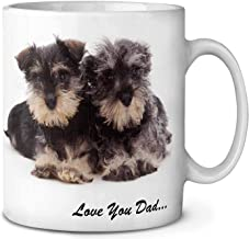 Miniature Schnauzers 'Love You Dad' Coffee/Tea Mug Christmas Stocking Filler Gif