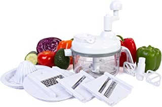 Ultra Chef Express Food Chopper – 7 in 1 Chopper, Mixer, Blender, Whipper, Slicer,..