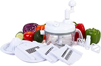 Ultra Chef Express Food Chopper – 7 in 1 Chopper, Mixer, Blender, Whipper, Slicer,..