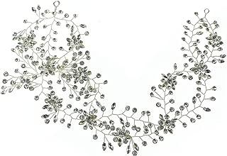 ROSEEDEN Wedding Headpiece Decorative Bridal Headband Hair Vine Beaded Hair Piece Accessories for Brides and Bridesmaids