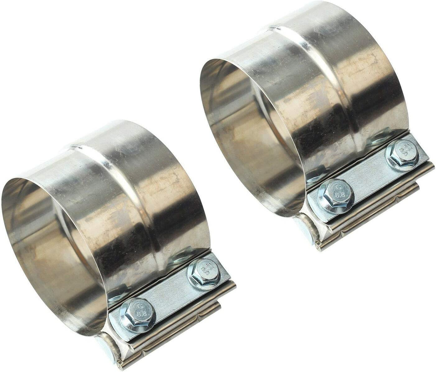SUPERFASTRACING Special Campaign New York Mall 2pcs 2.5inch T304 Clamps Band Stainless Exhaust
