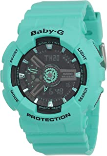 Casio Baby G Women BA111-3A Year-Round Analog-Digital Automatic Turquoise Watch