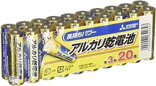 三菱電機 アルカリ乾電池 単3形 20本パック LR6N/20S
