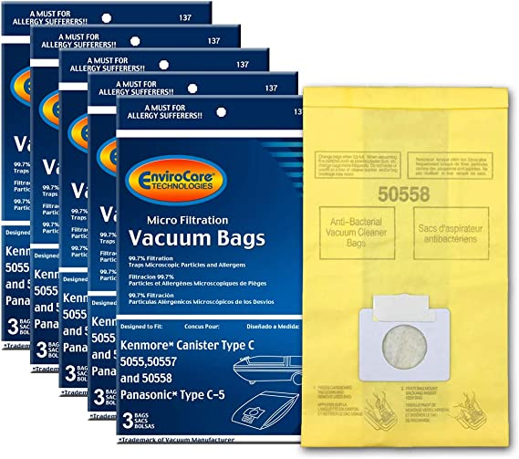 EnviroCare Replacement Micro Filtration Vacuum Bags to fit Kenmore Canister Q. 5055