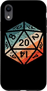 iPhone XR D20 Retro Dice Dungeon Accessory Game RPG Dragons Gift Case
