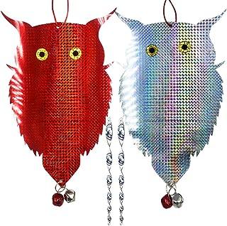 JHuuu Owl Bird Repellent Control Scare Device, 2019 Upgrade Bird Repellent Scare Bird Deterrent Holographic Reflective Woo...
