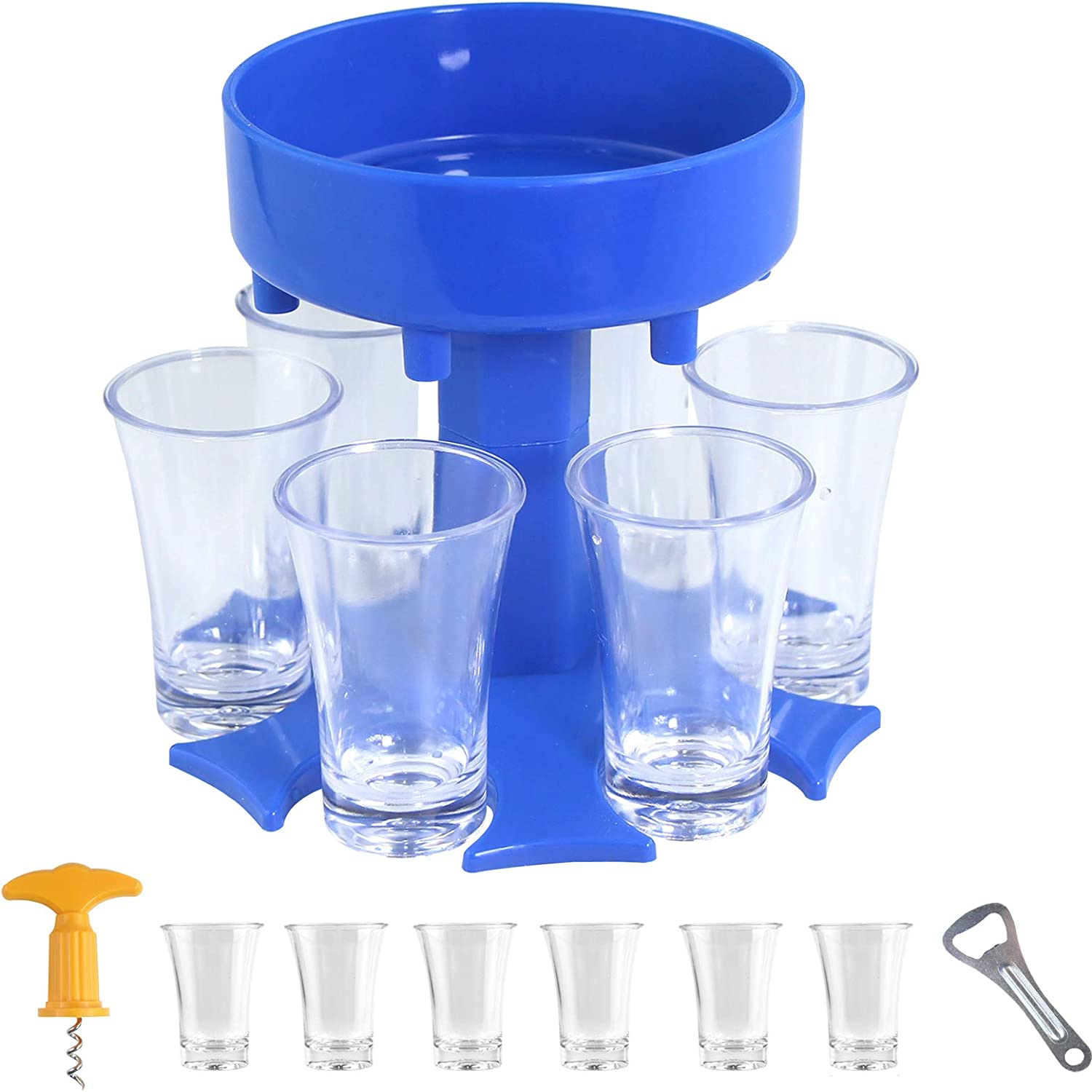 Super beauty product restock quality top 6 Shot Buddy Dispenser and with New product! New type Glasses,Multiple Sho Holder