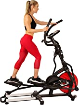 Sunny Health & Fitness Magnetic Elliptical Trainer Machine w/Tablet Holder, LCD Monitor, 265 Max Weight and Pulse Monitor - Stride Zone - SF-E3865