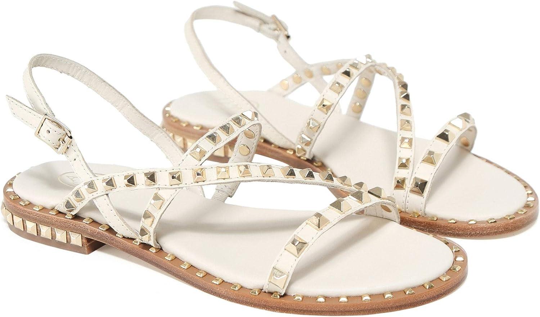 Ash Damen Lederpeace mit Sandalen Sandalen Weiß  kostenlosen Versand für alle Bestellungen