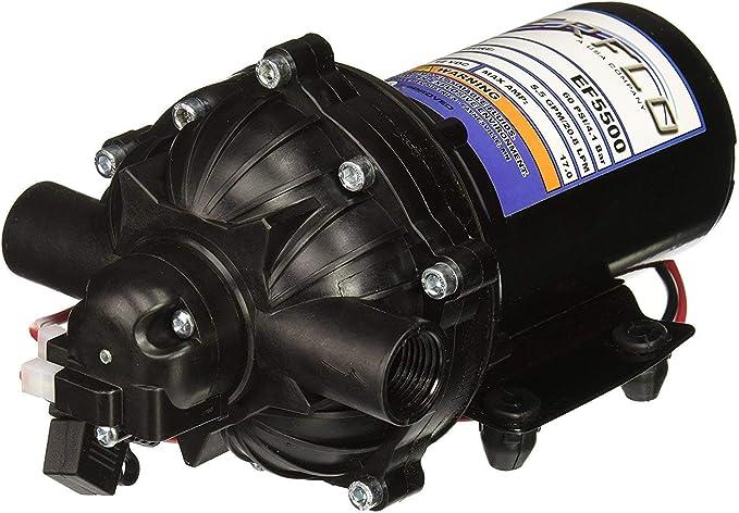 55 PSI Max Fresh Water EFRV3000-BOX 12V Diaphragm Pump Everflo RV 1//2 NPSM Ports 3.0GPM