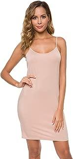 Women's Adjustable Spaghetti Strap Cami Full Slip Under Dress
