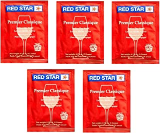 Red Star Premier Classique Wine Yeast - Pack of 5 - With North Mountain Supply Freshness Guarantee