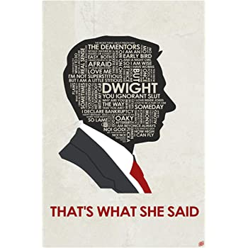 """The Office. Michael Scott. That's What She Said Giclee Art Print Poster from Typography Drawing by Pop Artist Stephen P. 12"""" x 18"""""""