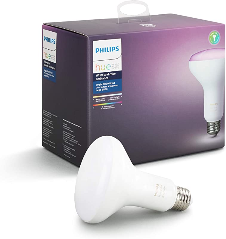 Philips Hue White And Color Ambiance BR30 Wi Fi Smart LED Floodlight Bulb 468942 Multi New