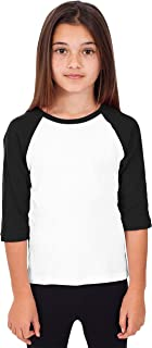 Hat and Beyond Kids Raglan 3/4 Sleeves Baseball Tee