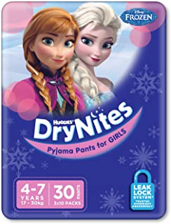 Huggies DryNites, Girls, Size 4-7 Years (Pack of 30)