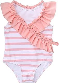 Toddler Baby Girl Swimsuit Ruffled Stripe Bikini Tankini Infant Swimwear Cute One Piece Bathing Suit for Girls