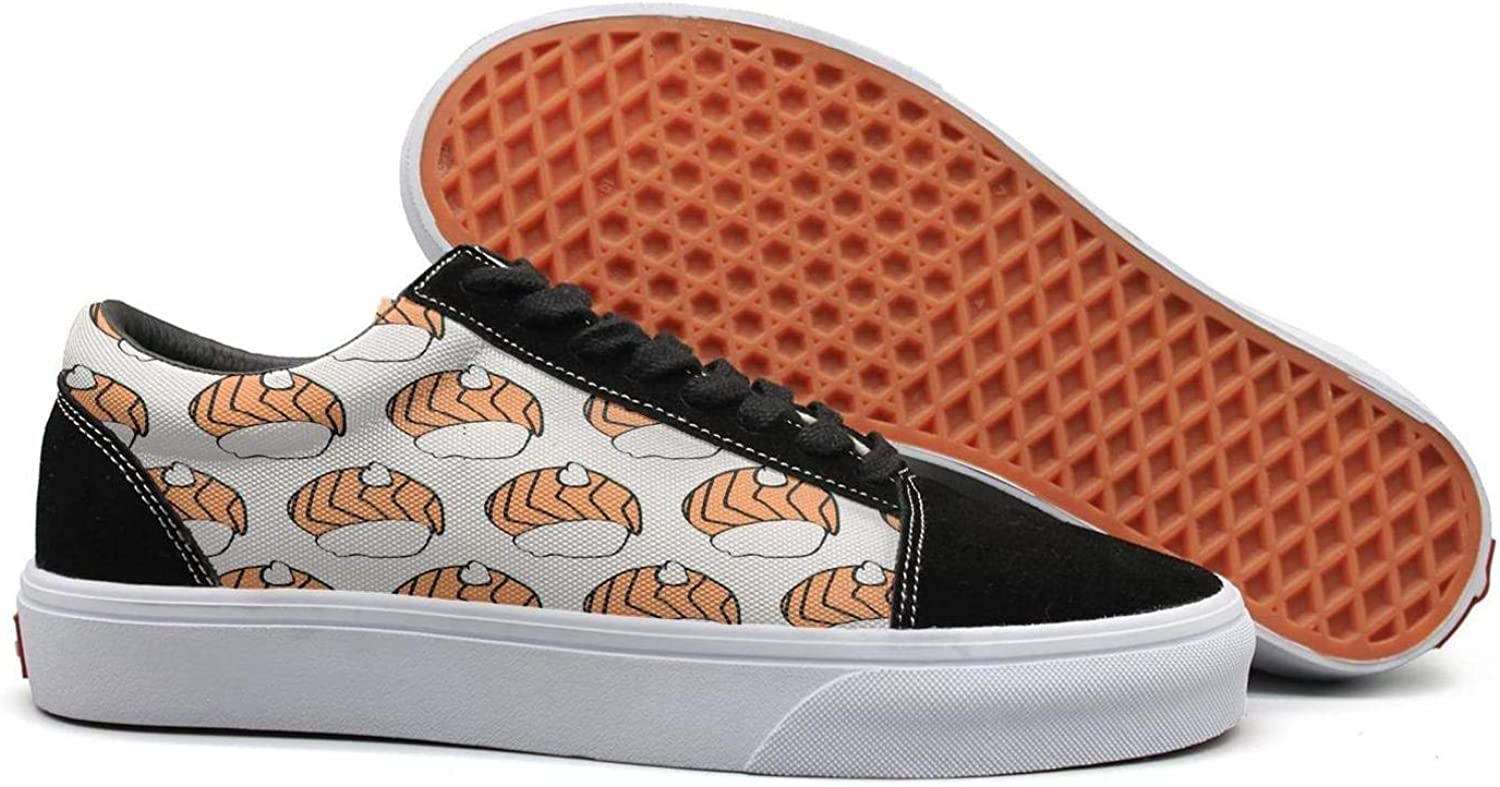 Japanese Food Icon Sushi with Salmon Womens Lace Up Loafers shoes Rubber Sole